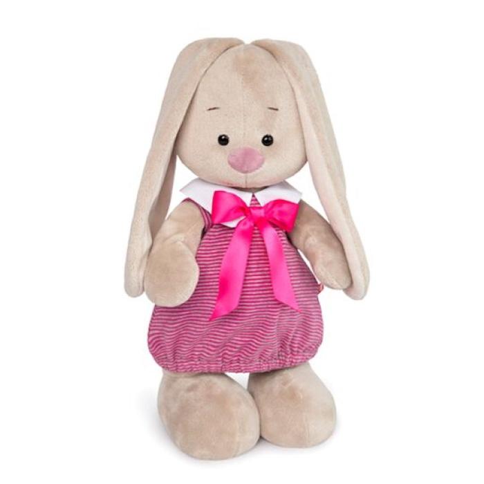 Мягкая игрушка Budi Basa Зайка Ми в платье  розовую полоску (малая)