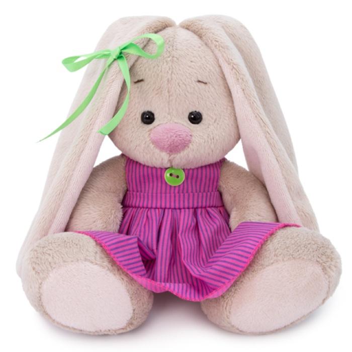 Мягкая игрушка Budi Basa Зайка Ми в розовом платье в полоску (малыш), 15 см nici мягкая игрушка айюми улыбка