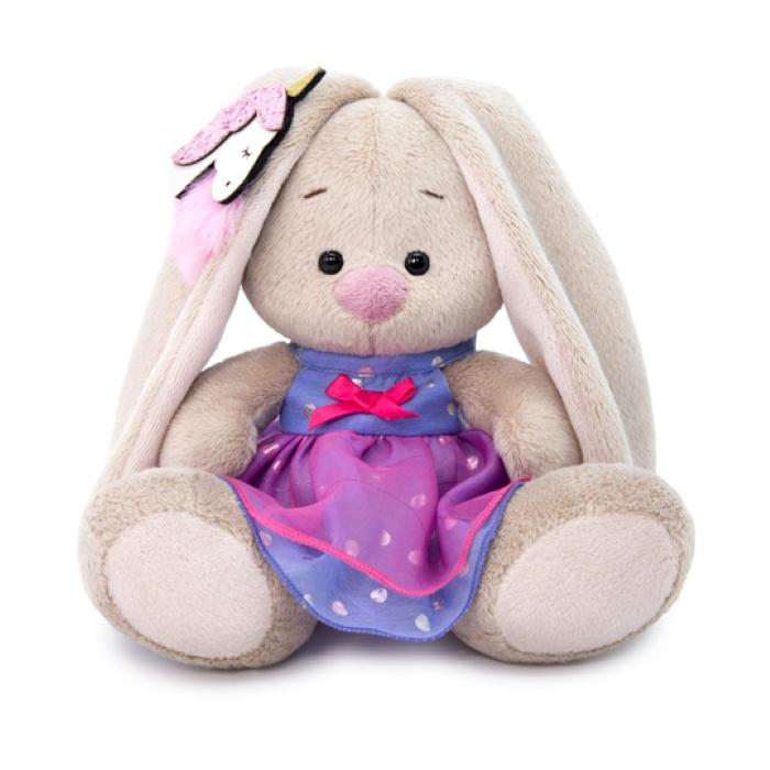Мягкая игрушка Budi Basa Зайка Ми в платье с единорогом на ушке, 15 см nici мягкая игрушка айюми улыбка