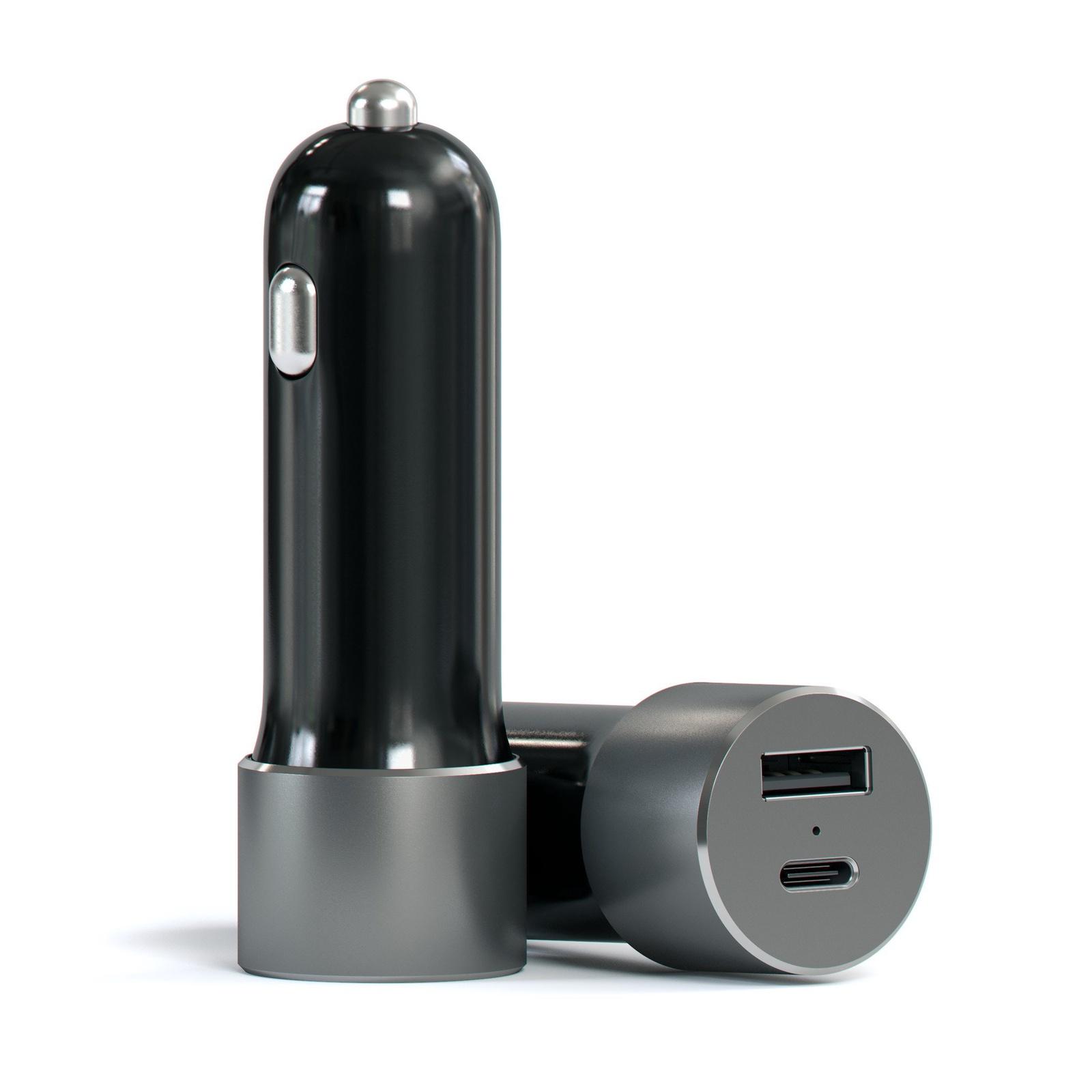 Автомобильное зарядное устройство Satechi 48W С Type C и USB (Серый) автомобильное зарядное устройство nillkin celerity car charger 6 4а 2 х usb usb c серый