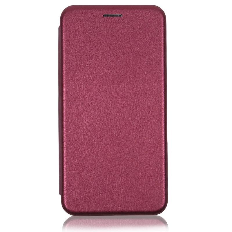 Чехол книжка Xiaomi Redmi 6A бордовый