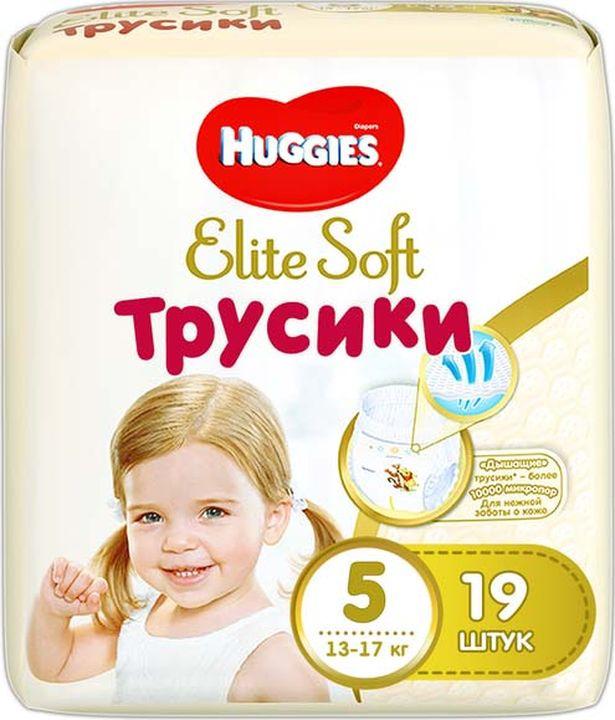 Huggies Подгузники-трусики Elite Soft 12-17 кг (размер 5) 19 шт трусики подгузники huggies elite soft 5 12 17 кг 19 шт