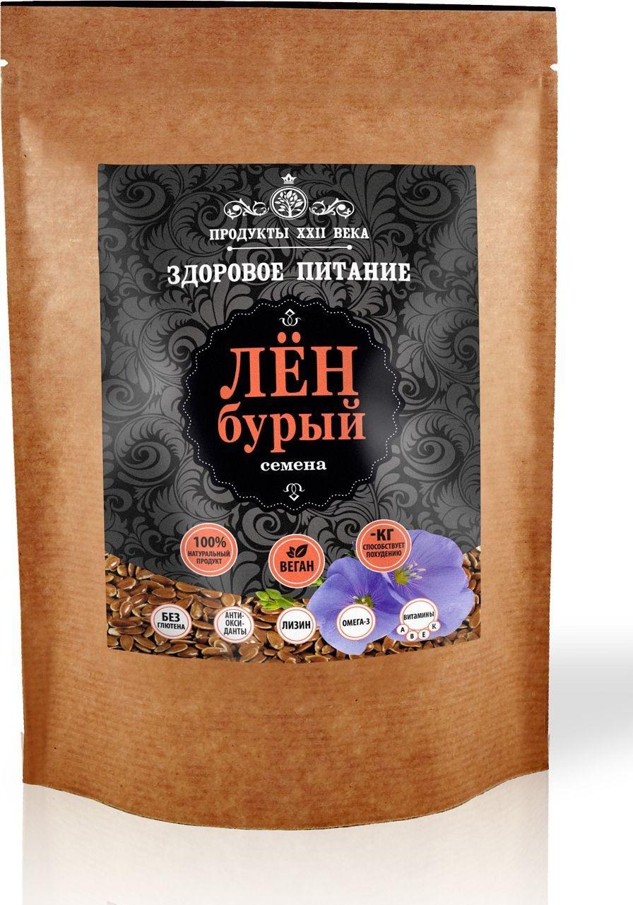 цена на Продукты ХХII века лен бурый семена, 400 г