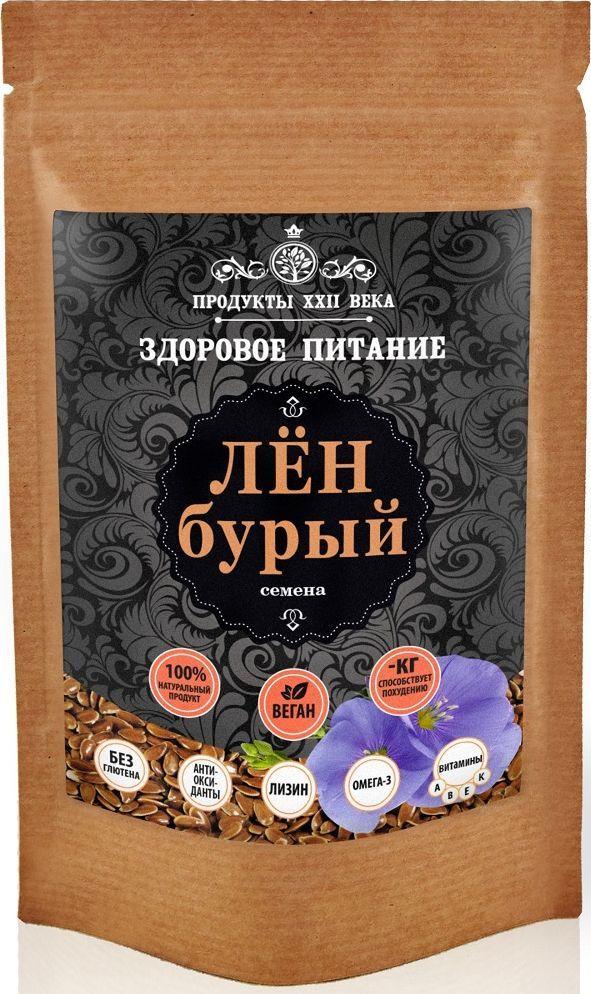 цена на Продукты ХХII века лен бурый семена, 100 г