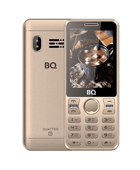 Мобильный телефон BQM-2812 Quattro Power Gold сотовый телефон ark power f3 gold