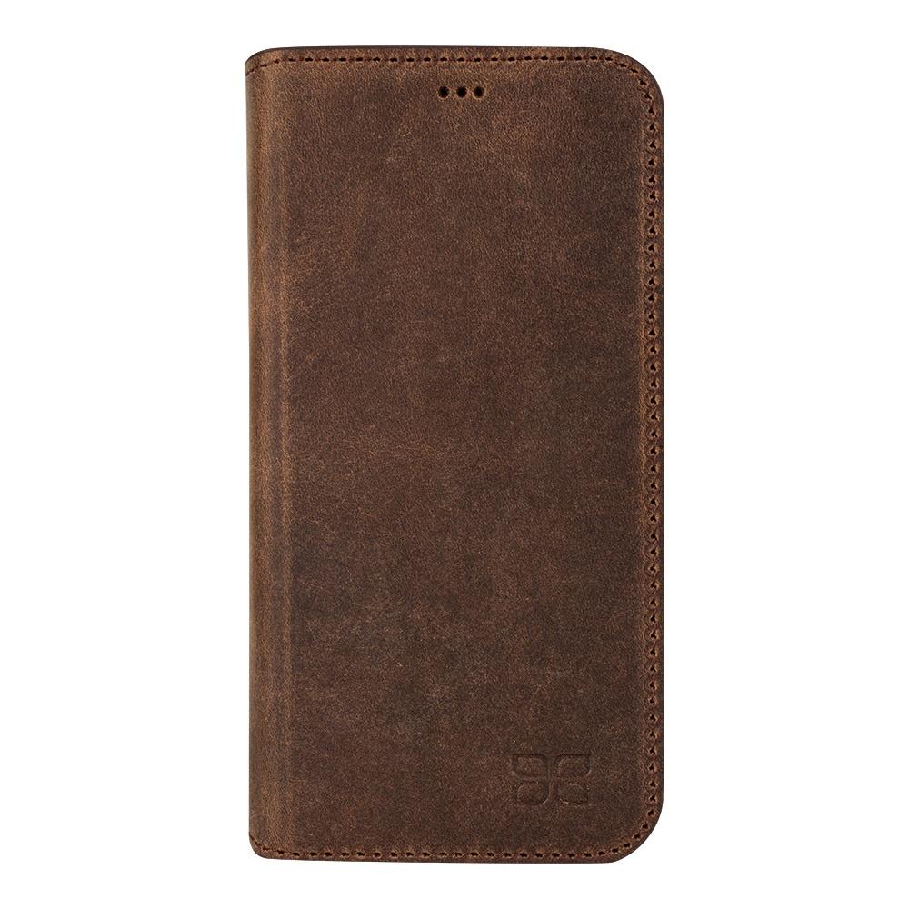 Кожаный чехол книжка для HTC M9 Bouletta (Книга) Серо-Коричневый-G6