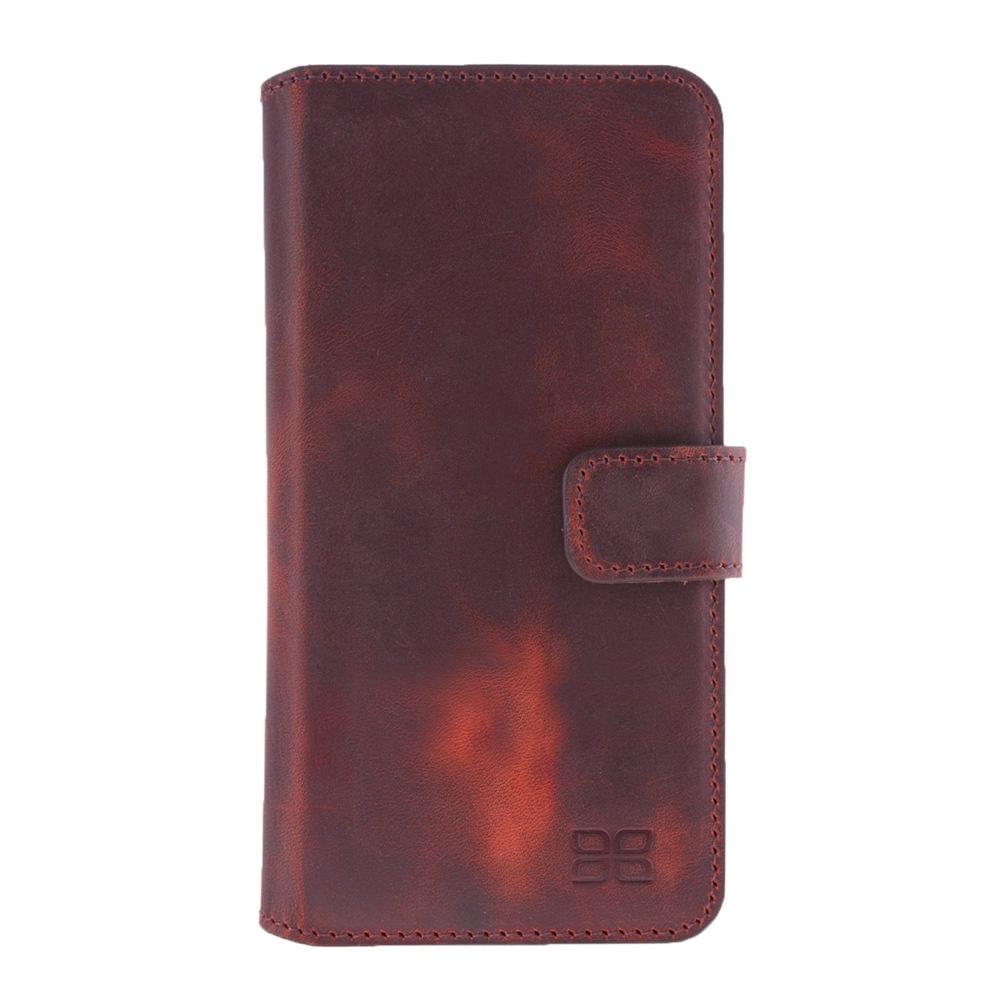 Кожаный чехол книжка для HTC M9 Bouletta (Портмоне) Бордовый-G4
