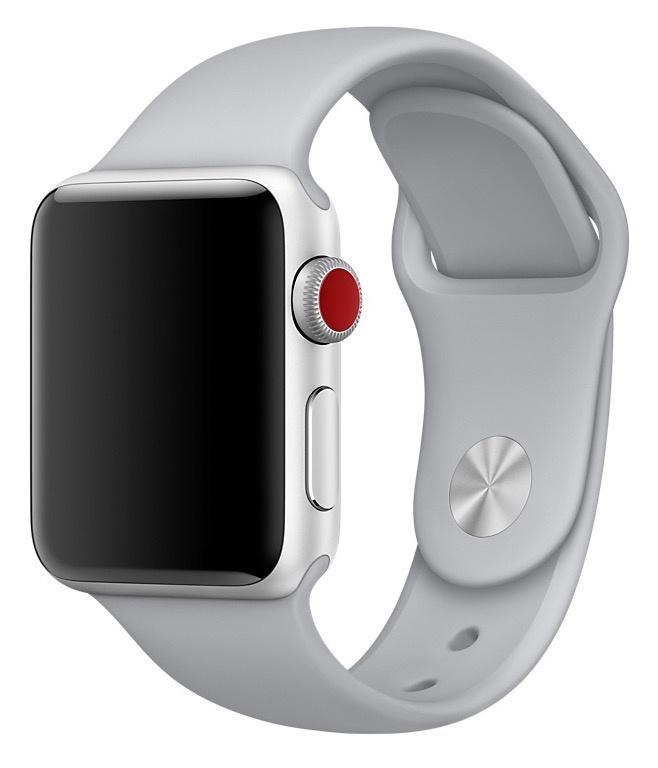 Ремешок для смарт-часов Gurdini силиконовый спортивный 906166 для Apple Watch 38mm/40mm,906166,серый аксессуар ремешок gurdini milanese loop для apple watch 38mm space black 904824