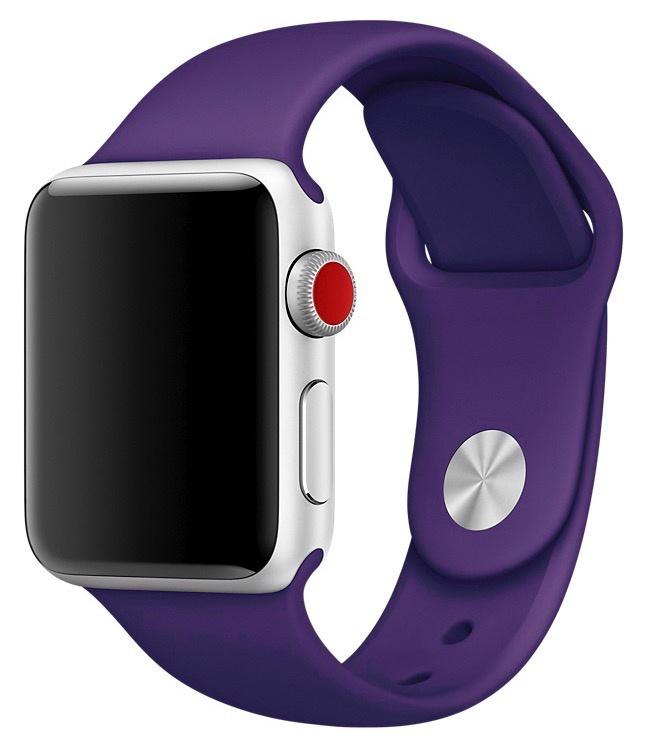 Ремешок для смарт-часов Gurdini ремешок силиконовый спортивный 906165 для Apple Watch 38mm/40mm,906165,фиолетовый аксессуар ремешок gurdini milanese loop для apple watch 38mm space black 904824