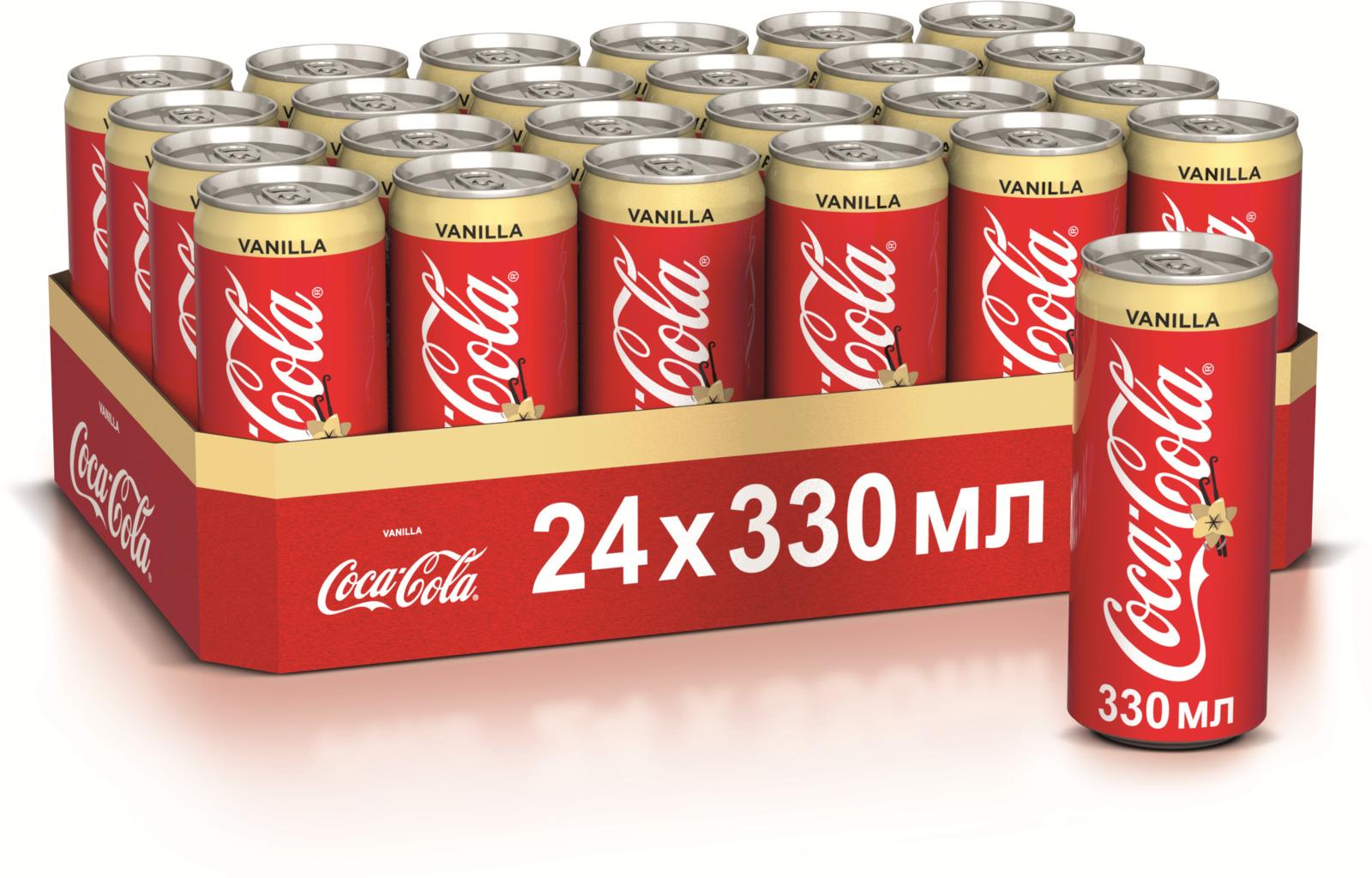 Газированный напиток Coca-Cola Vanilla, 0,33 л х 24 шт