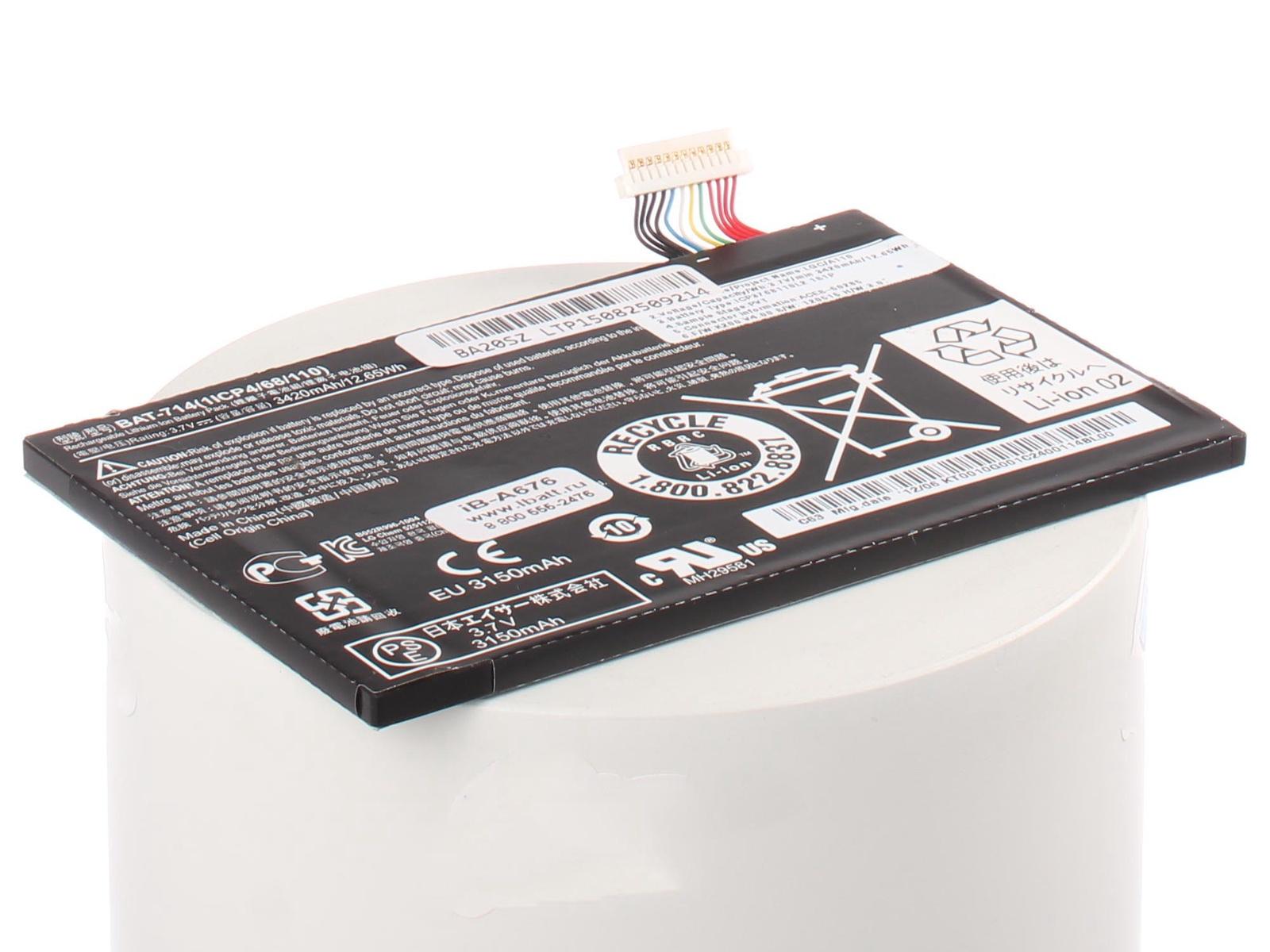 Аккумуляторная батарея iBatt iB-A1-A676 3420mAh для ноутбуков Acer база ноутбуков