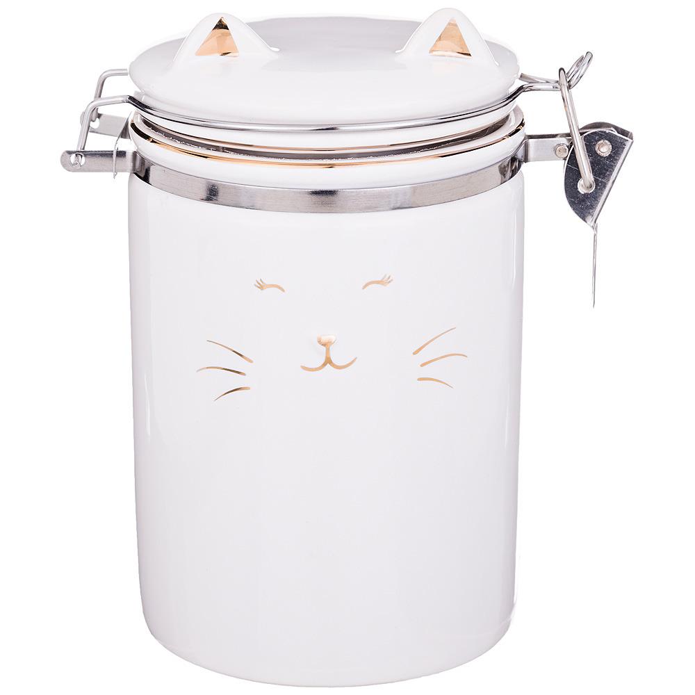 Банка для сыпучих продуктов Lefard Белый котик, 125-215, 600 мл банка для сыпучих продуктов loraine 28190 прозрачный 600 мл
