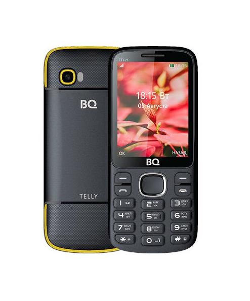 Мобильный телефон BQM-2808 Telly Black+yellow мобильный телефон bq bq 2808 telly black grey
