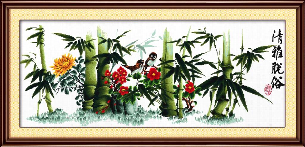 Набор для вышивания NKF In a bamboo grove
