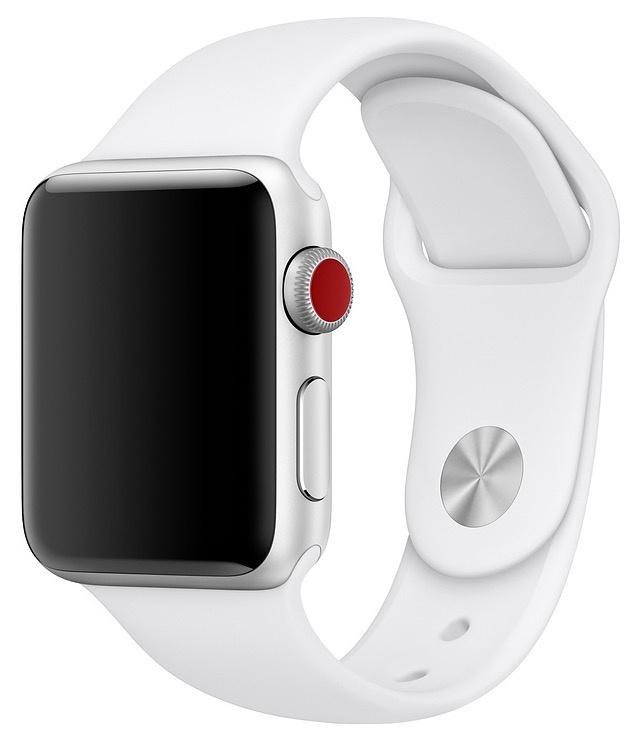 Ремешок для смарт - часов Gurdini силиконовый спортивный 905015 для Apple Watch 38mm/40mm,905015,белый аксессуар ремешок gurdini milanese loop для apple watch 38mm space black 904824