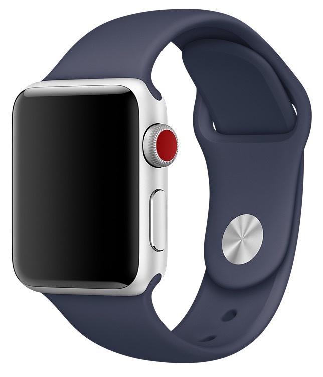 Ремешок для смарт - часов Gurdini силиконовый спортивный 905019 для Apple Watch 38mm/40mm,905019,темно-синий аксессуар ремешок gurdini milanese loop для apple watch 38mm space black 904824
