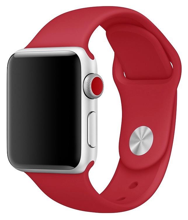 Ремешок для смарт - часов Gurdini силиконовый спортивный 905021 для Apple Watch 38mm/40mm,905021,красный аксессуар ремешок gurdini milanese loop для apple watch 38mm space black 904824