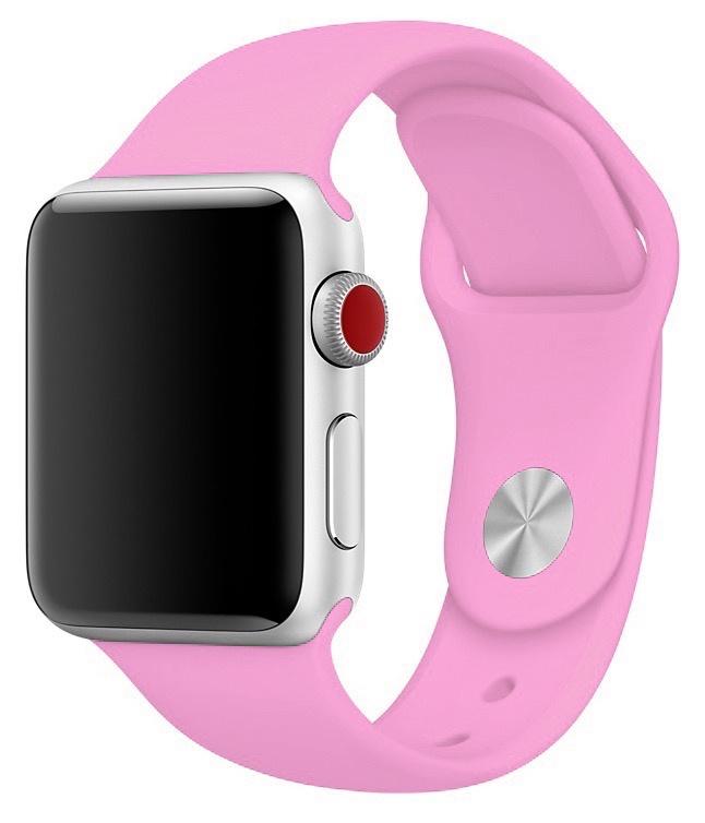 Ремешок для смарт - часов Gurdini силиконовый спортивный 905029 для Apple Watch 38mm/40mm,905029,розовый аксессуар ремешок gurdini milanese loop для apple watch 38mm space black 904824
