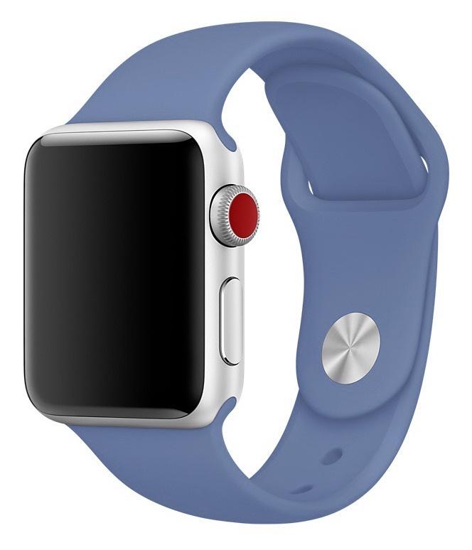 Ремешок для смарт - часов Gurdini силиконовый спортивный 906163 для Apple Watch 38mm/40mm,906163,синий аксессуар ремешок gurdini milanese loop для apple watch 38mm space black 904824