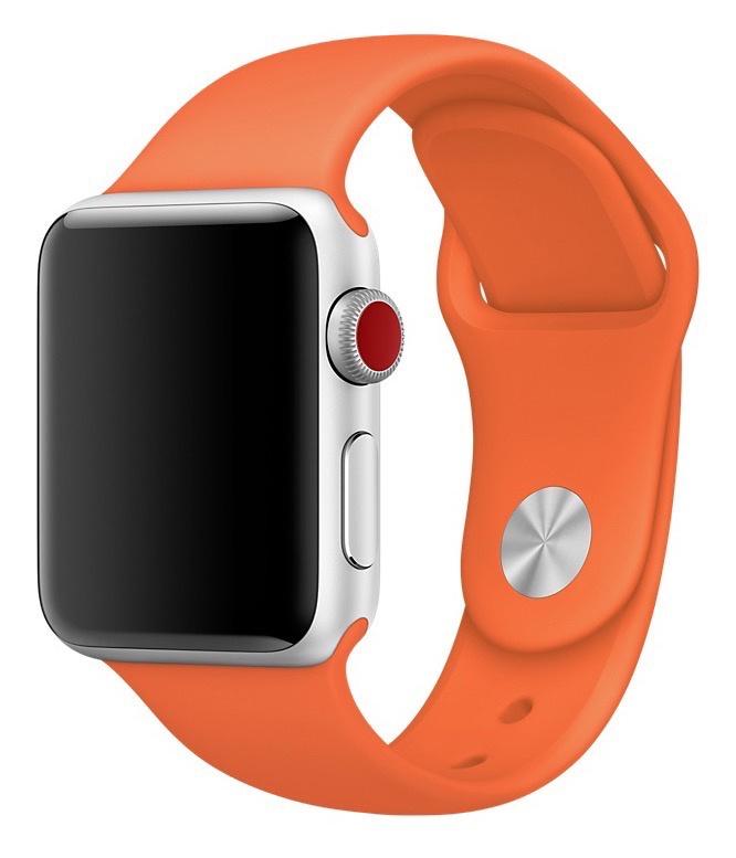 Фото - Ремешок для смарт-часов Gurdini ремешок силиконовый спортивный 906168 для Apple Watch 42mm/44mm,906168,оранжевый ремешок для смарт часов semolina ремешок силиконовый для apple watch 42 мм gx28 оранжевый оранжевый