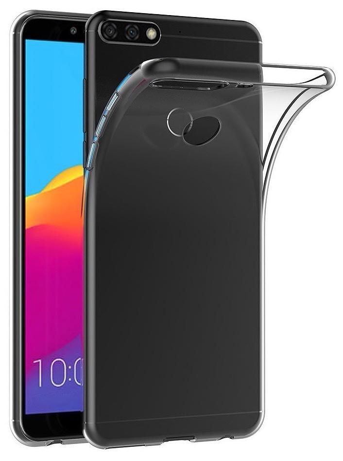 Чехол Huawei накладка CasePRO силикон для Honor 7C/7А Pro/Y6 Prime/Y6 2018,908660, прозрачный