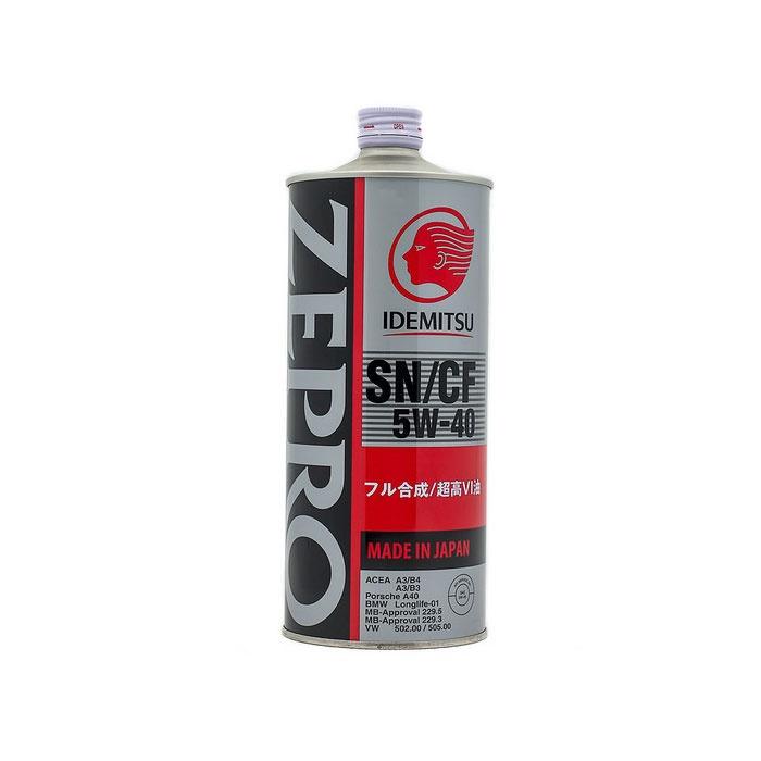 Масло моторное синтетическое IDEMITSU Zepro Euro Spec SN/CF 5W-40, 1л цена