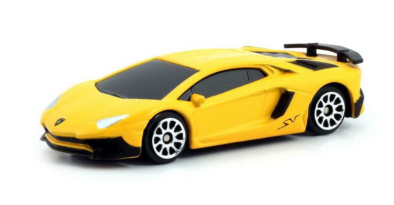 Машинка Uni-Fortune RMZ City Lamborghini Aventador LP 750-4 Superveloce, без механизмов, 344994SM(C), желтый машинка uni fortune rmz city ford mustang 2015 без механизмов 344028sm b желтый
