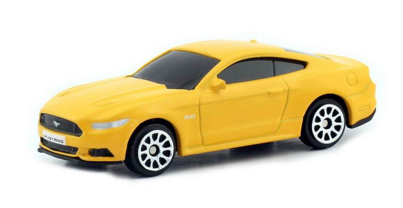 Машинка Uni-Fortune RMZ City Ford Mustang 2015, без механизмов, 344028SM(B), желтый машинка uni fortune rmz city ford mustang 2015 без механизмов 344028sm b желтый