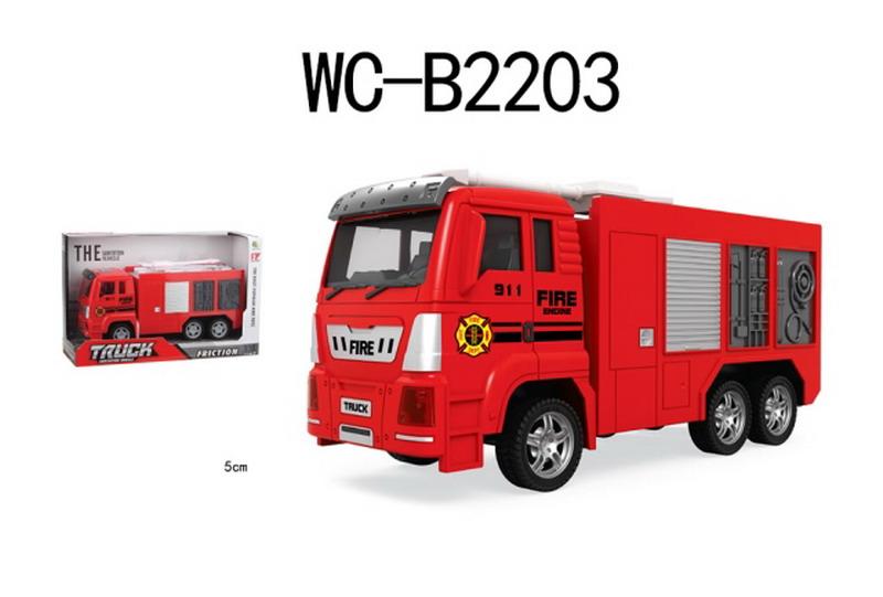 Машинка Abtoys Пожарная машина, инерционная, 89002B-6, красный цена