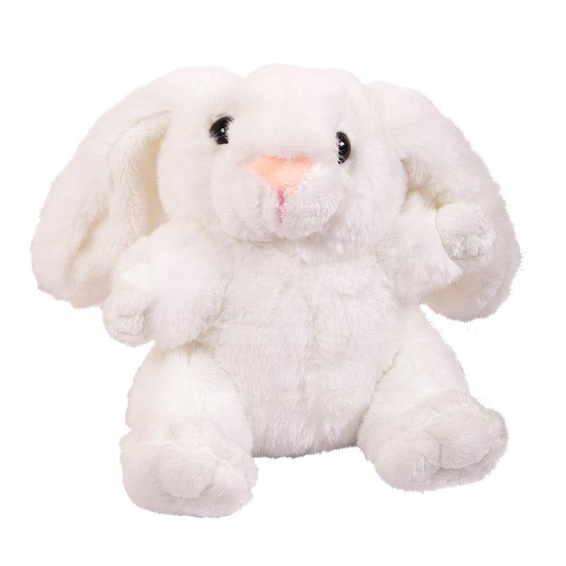 Мягкая игрушка Abtoys Кролик, M2066, белый, 17 см