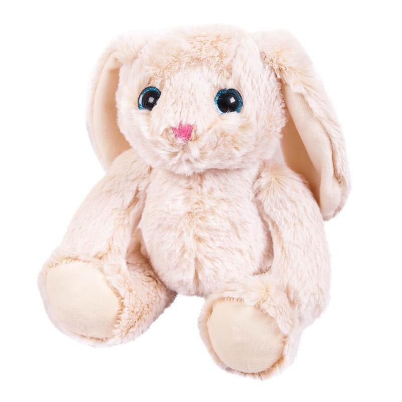 Мягкая игрушка Abtoys Кролик, M2060, бежевый, 18 см