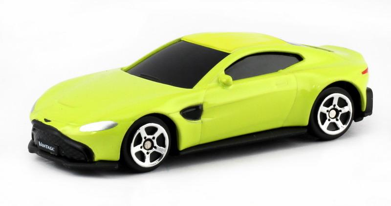 Машинка Uni-Fortune RMZ City Aston Martin Vantage 2018, 344036S-YL, желтый машинка uni fortune rmz city ford mustang 2015 без механизмов 344028sm b желтый