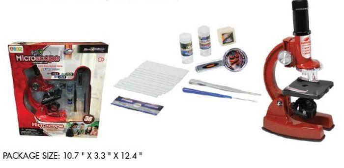 лучшая цена Развивающая игрушка Eastcolight Опыты с микроскопом и аксессуарами, 21364, красный, 36 предметов