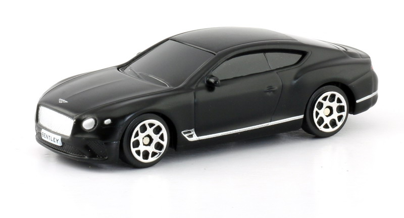 Машинка Uni-Fortune RMZ City The Bentley Continental GT 2018, 344035SM, черный машинка uni fortune rmz city the bentley continental gt 2018 344035sm черный