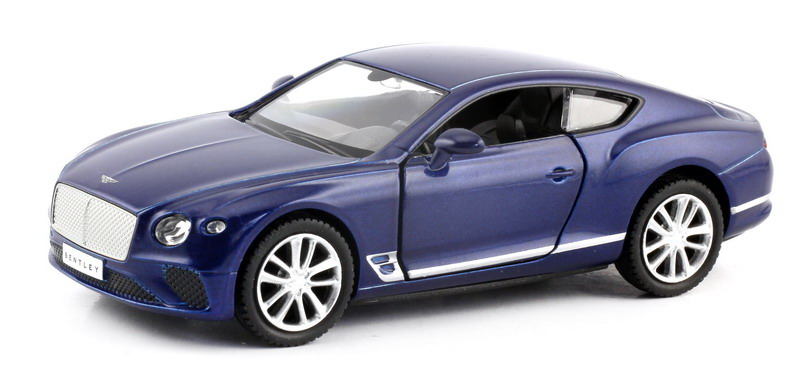 Машинка Uni-Fortune RMZ City The Bentley Continental GT 2018, 554043-BLU, синий машинка uni fortune rmz city the bentley continental gt 2018 344035sm черный
