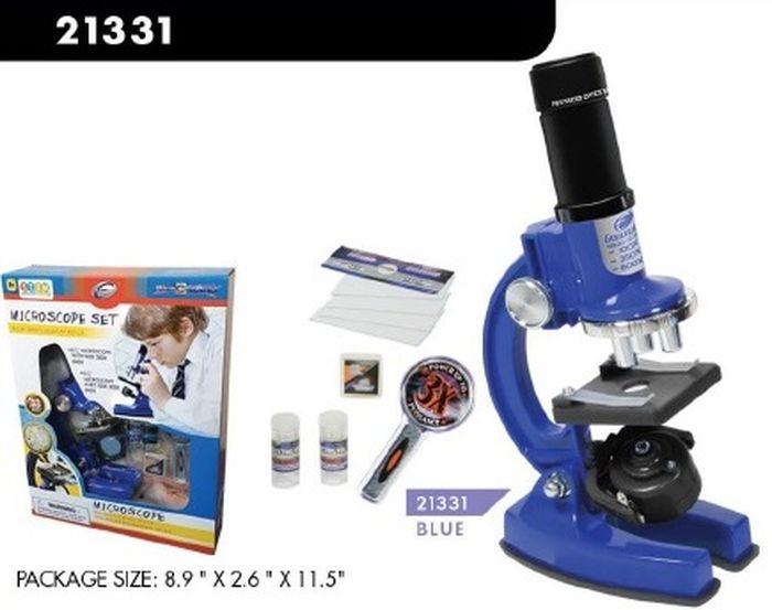 лучшая цена Развивающая игрушка Eastcolight Опыты с микроскопом и аксессуарами, 21331, синий, 33 предмета
