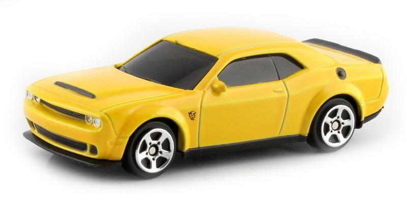 Машинка Uni-Fortune RMZ City Dodge Challenger SRT Demon 2018, 344034S-YL, желтый машинка uni fortune rmz city dodge challenger srt demon 2018 344034s rd красный