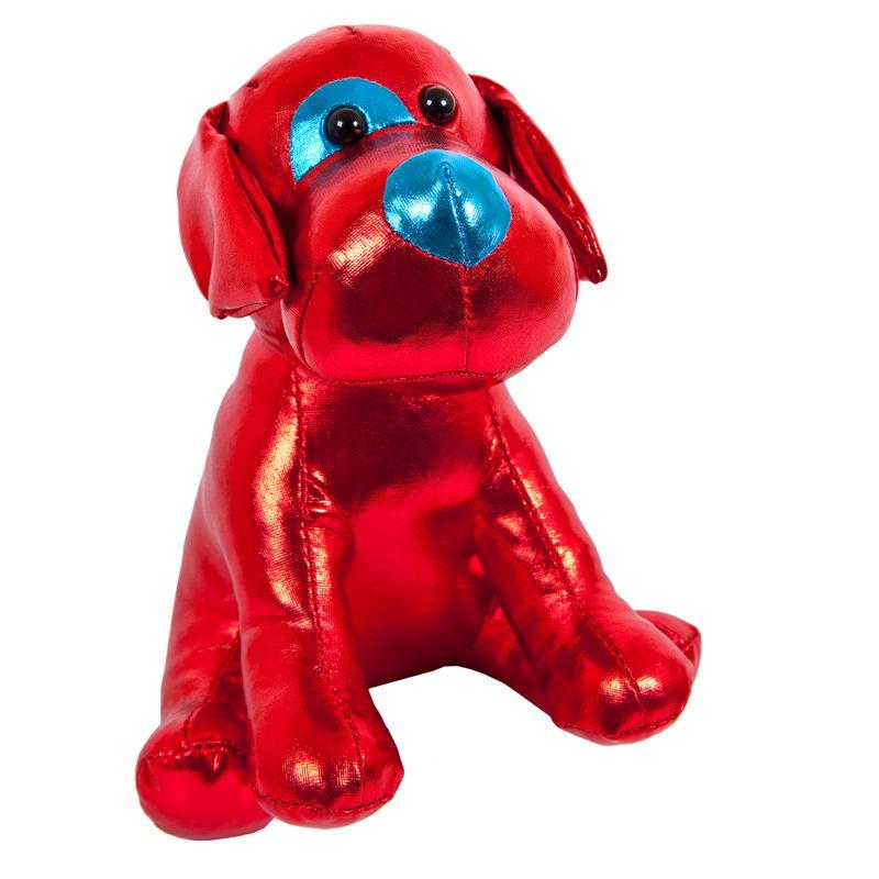 Мягкая игрушка Abtoys Металлик Собака, M2052, красный, 15 см
