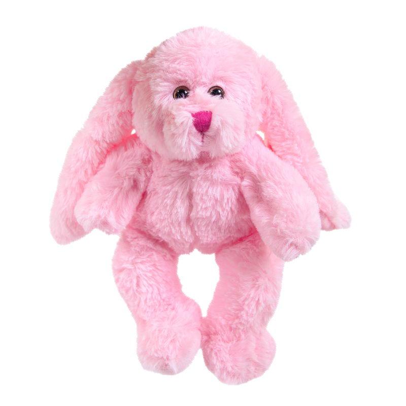Мягкая игрушка Abtoys Кролик, M2061, розовый, 15 см