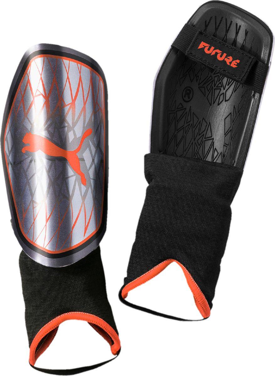 Щитки Puma Future 19.4, 03076201, серый, коралловый, черный, размер M цена