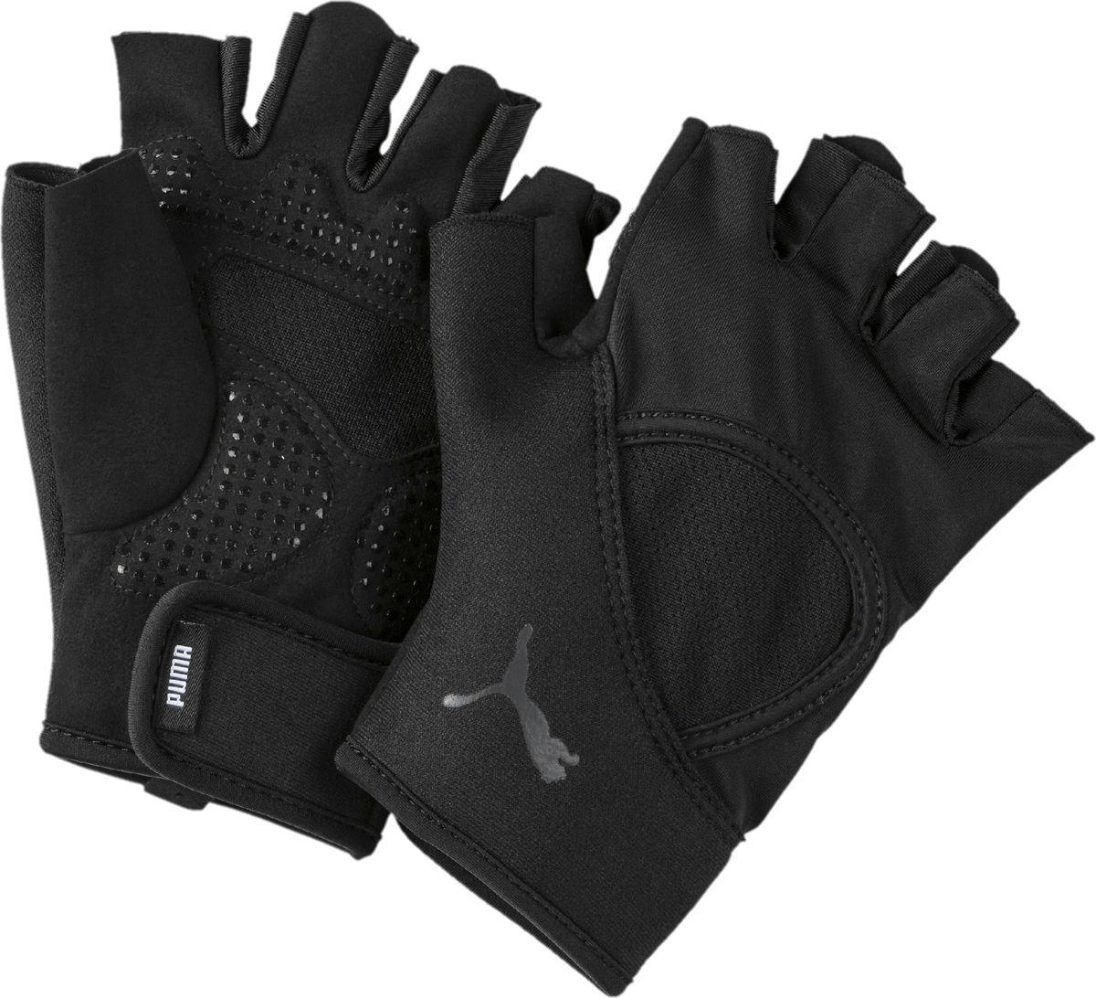 Перчатки для фитнеса Puma TR Ess, 04146603, черный, размер L перчатки спортивные puma перчатки puma tr gloves up