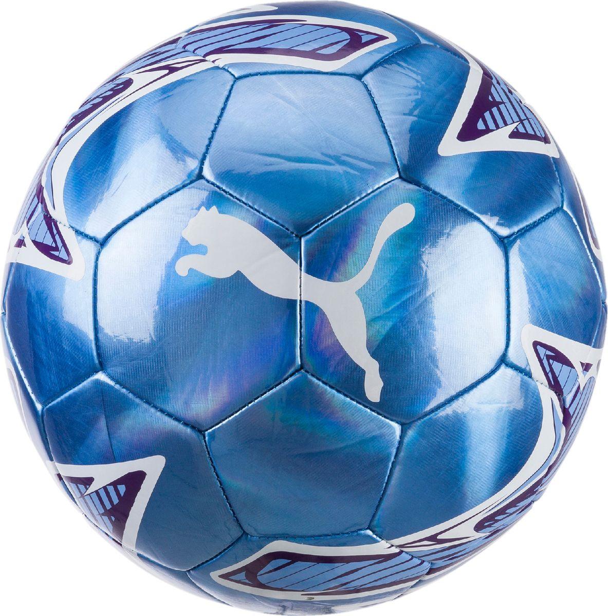 Мяч футбольный Puma MCFC Puma One Laser Ball, 08325327, синий, белый, размер 5