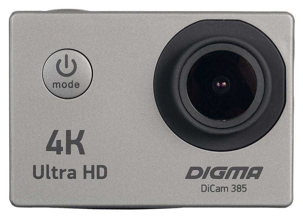 лучшая цена Экшн-камера Digma DiCam 385, цвет серый