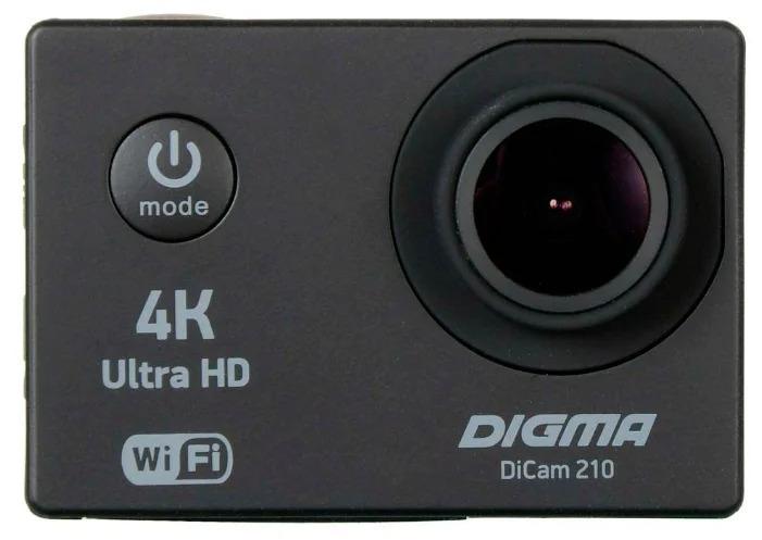 лучшая цена Экшн-камера Digma DiCam 210, цвет черный
