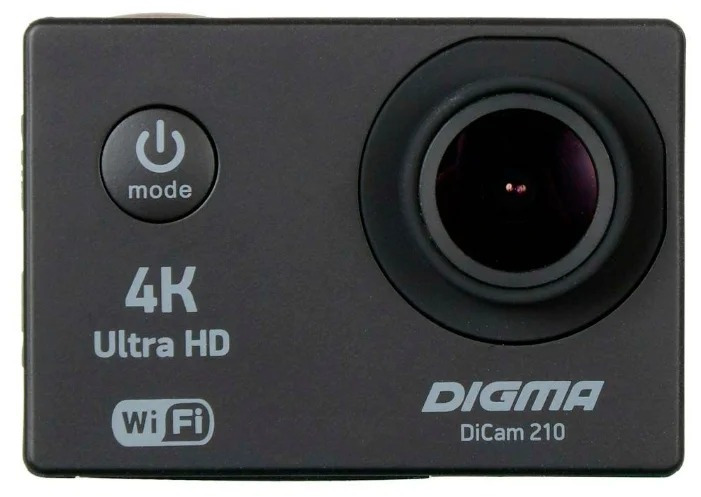 Экшн-камера Digma DiCam 210, цвет черный yi экшн камера black