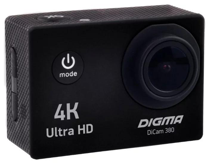 лучшая цена Экшн-камера Digma DiCam 380, цвет черный