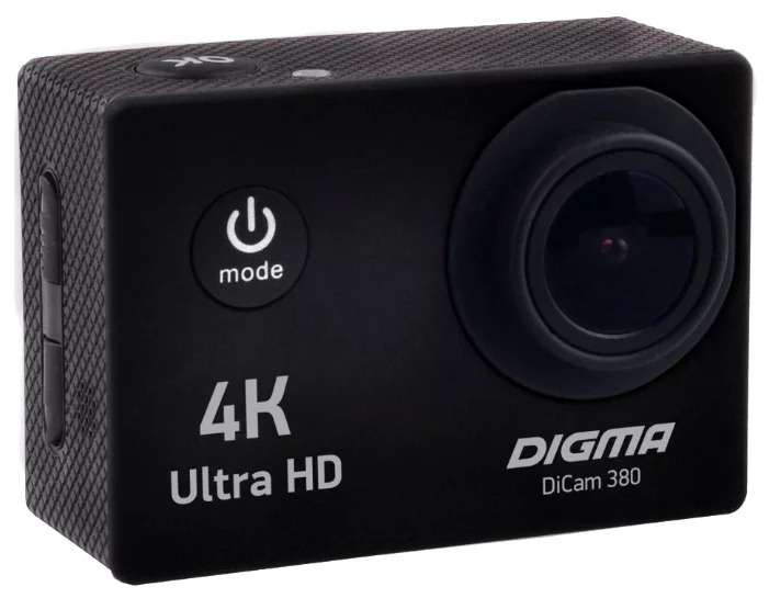 Экшн-камера Digma DiCam 380, цвет черный denn dac211 экшн камера