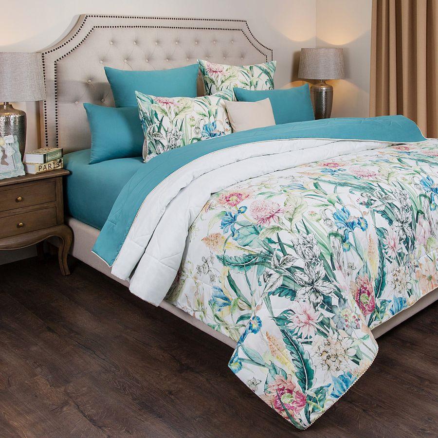 Одеяло летнее Santalino Эдем, 985-410, разноцветный, 170 х 220 см цены онлайн