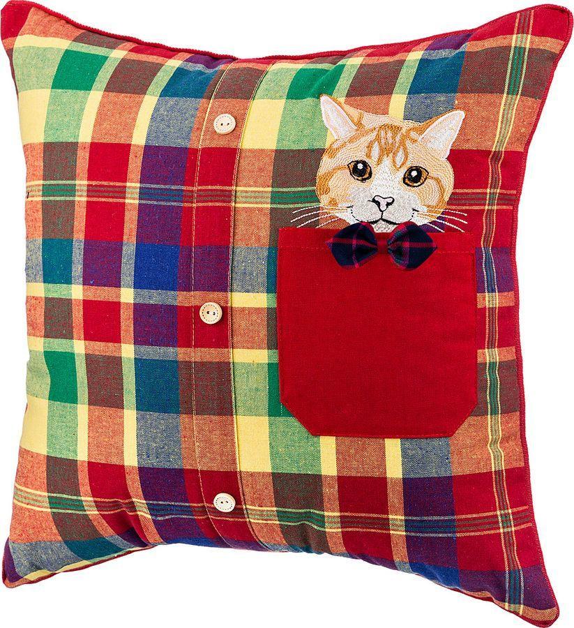 Подушка декоративная Santalino Любимая рубашка, 850-827-33, красный, 45 x 45 см цена