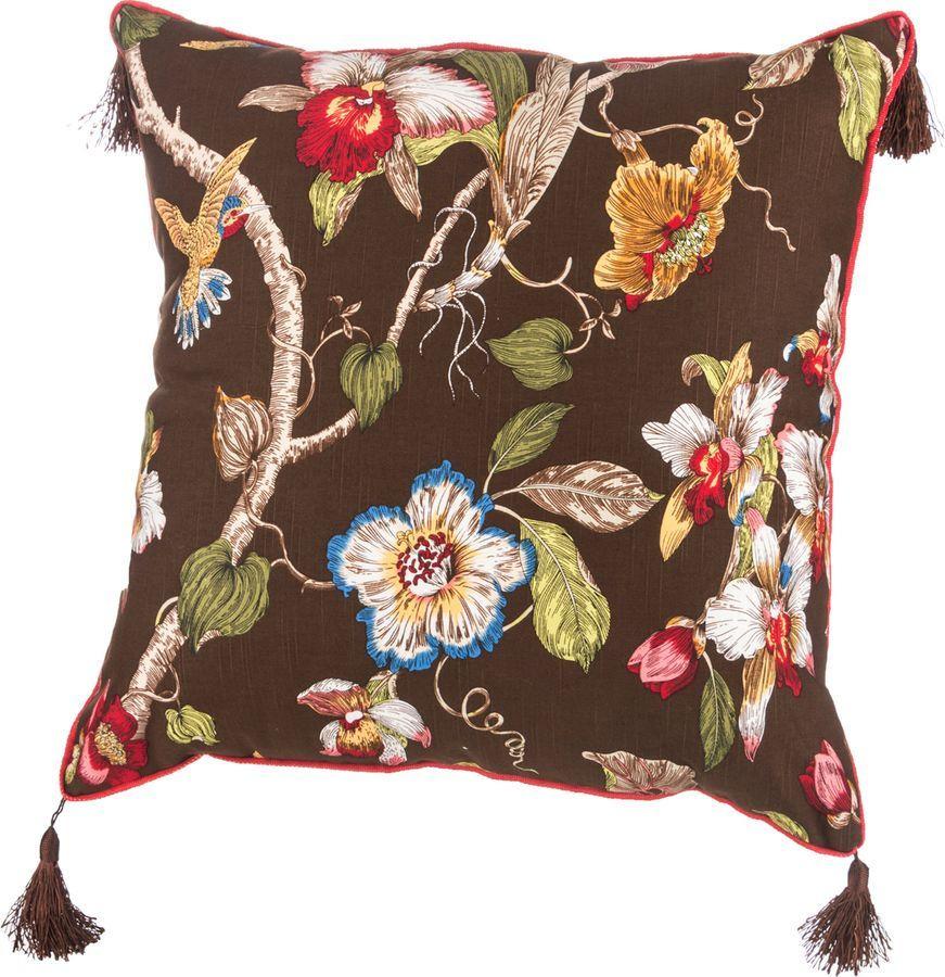 Подушка декоративная Santalino Парадиз, 850-824-61, коричневый, 45 x 45 см подушка декоративная феникс презент чеширский кот 45 см х 45 см